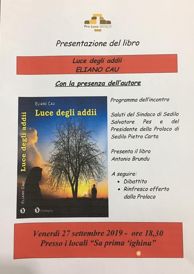 locandina presentazione del libro Luce degli addii